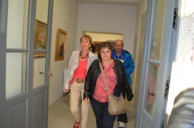 La délégation à sa sortie du bureau du maire