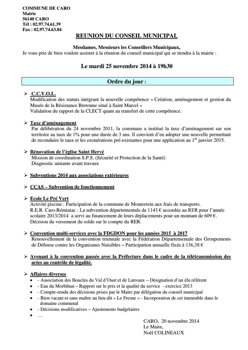 Caro Les Coulisses Du Compte Rendu Arrange Du Conseil Municipal Les Infos Du Pays Gallo