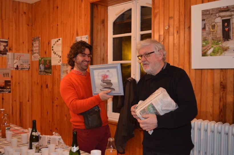 Régis, à gauche et Gérard le préisdent