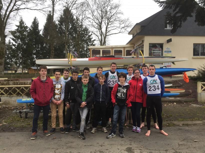 L'équipe des kayakistes de Malestroit