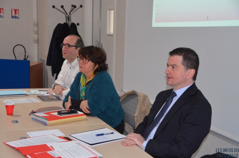 Maxime Picard (à gauche) aux cotés de Georgette Bréard, vice-présidente de la Région