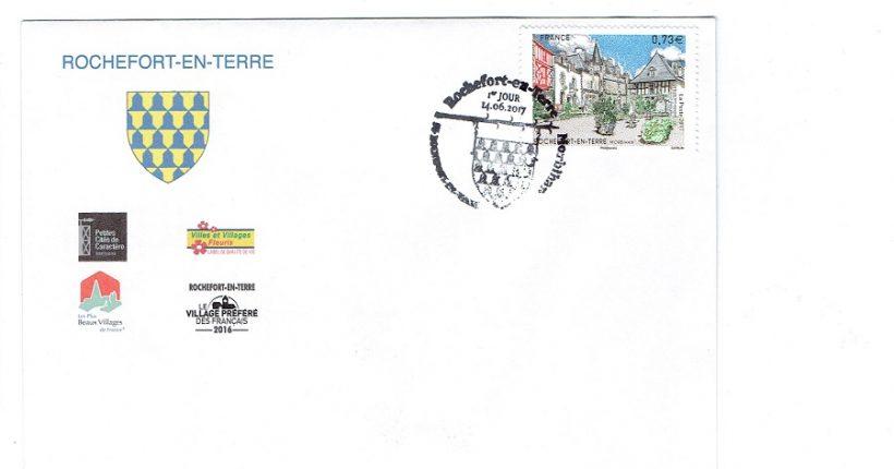 Rochefort en terre on se bouscule pour avoir le timbre du - Office du tourisme rochefort en terre ...