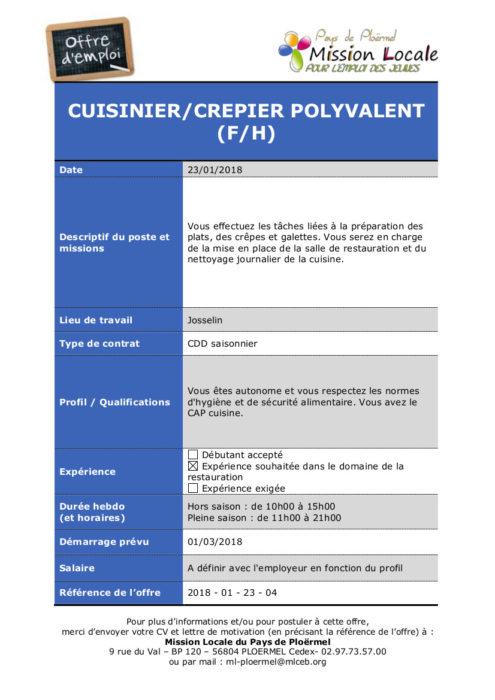 S04 - 2018 - 01 - 23 - 04 Cuisinier-crepier polyvalent josselin