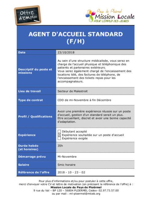 S43 - 2018 - 10 - 23 - 02  Agent d'accueil clinique des Augustines