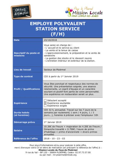 S43 - 2018 - 10 - 23 - 03  Employe polyvalent station service Total Ploermel
